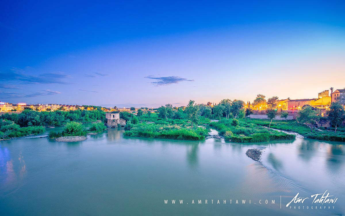 Roman bridge view for  Guadalquivir river during my blue hour shoot - Córdoba , Spain.