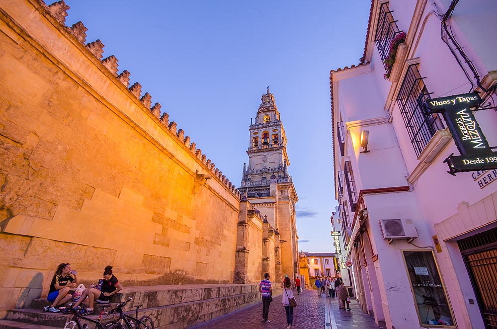 Mezquita by the blue hour while having a relaxed walk   -   Córdoba  , Spain.