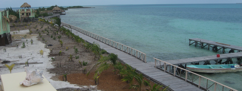 Adding the boardwalk along the shoreline of the island