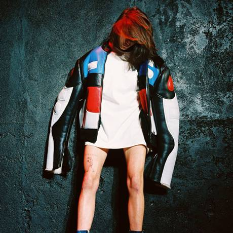Faceless model backstage at a/w 15 show of Vetements, in Paris