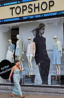 Topshop's skinny mannequins caused a furore online (Alamy)