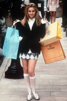 Alicia Silverstone as shopping-crazy Cher in 'Clueless'