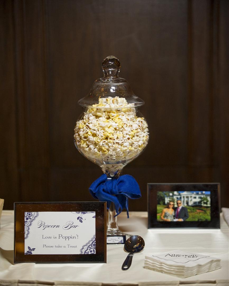Wedding Reception Popcorn Bar