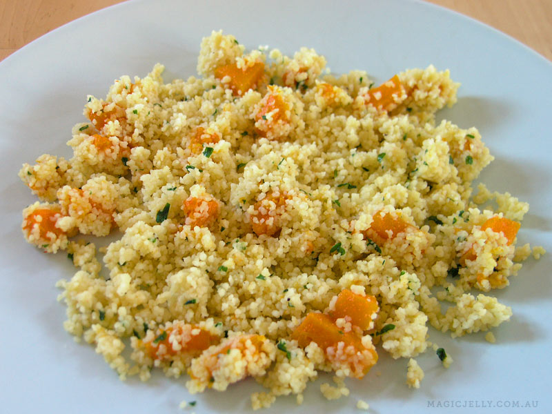 Bed of couscous.
