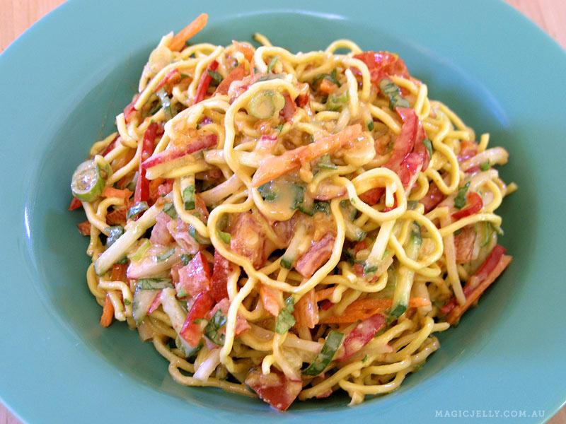 Peanut Noodle Salad (recipe  here )