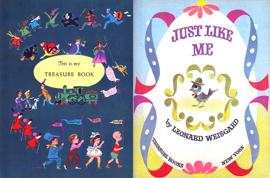 Just Like Me  , written & illustrated by Leonard Weisgard, 1954