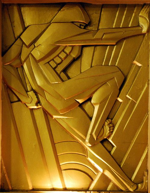 Architectural sculpture on Chanin Buildingby Rene Paul Chambellan