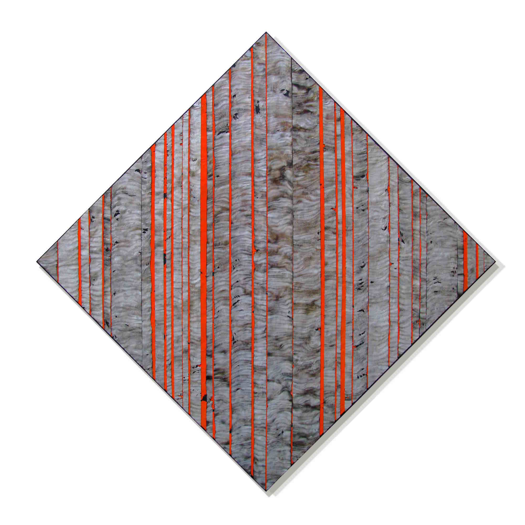 """Regimes    60"""" x 60""""    Aluminum, wood, oil and stain"""