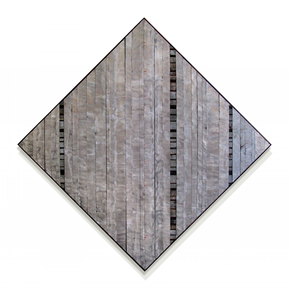 """With Vertical   48"""" x 48""""    Aluminum, wood, oil and stain"""