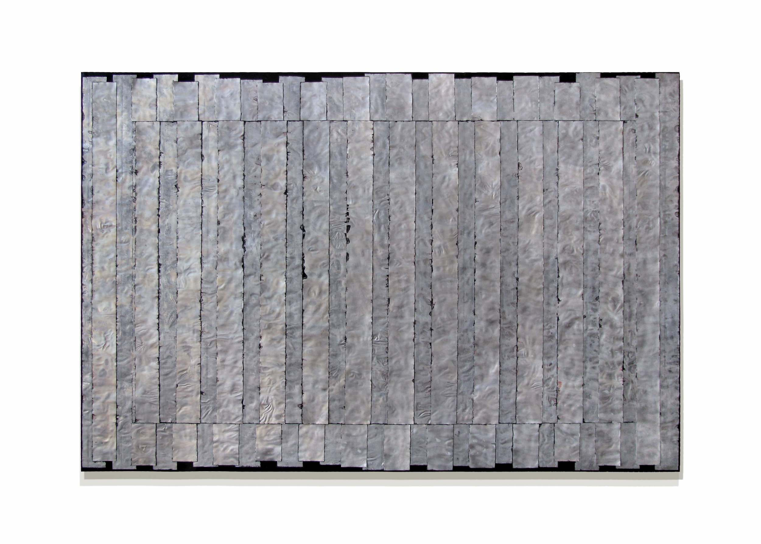 """Parallel  48"""" x 72"""" x 2""""  Aluminum, stain, oil, wood"""