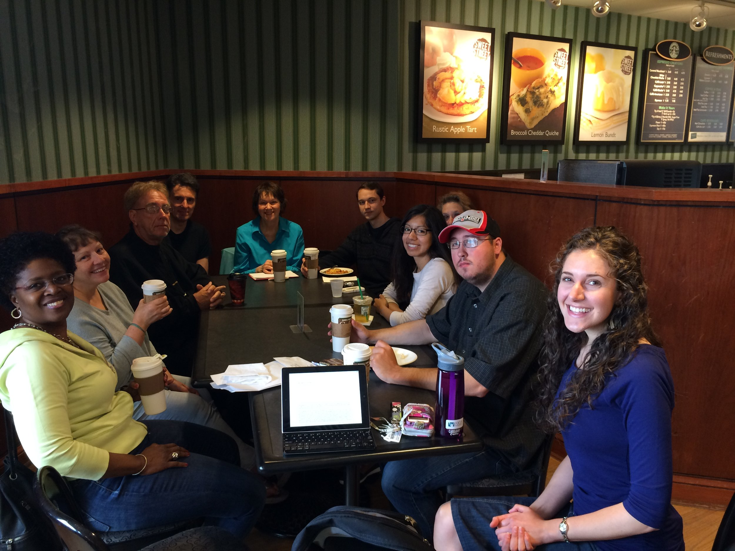 Our meetup groups meet at the Barnes & Noble Cafe in downtown Naperville.