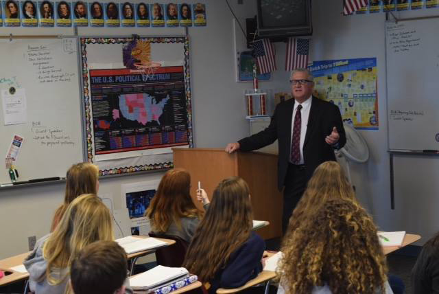 At the end of January, I visited with Mr. Holle's honors government class and shared about current legislative topics. I really enjoyed the dialogue and the participation by the students. It was a very fine day at Goddard High School.
