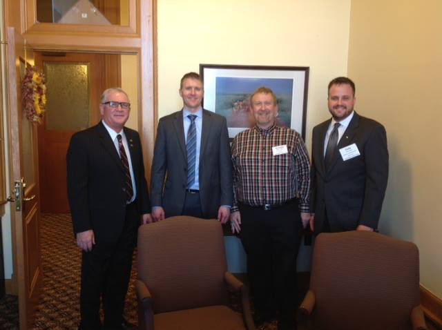CO-OP, KS Grain & Feed, and Agribusiness members stopped by the office in January while attending the Legislative Action Day in Topeka. I certainly appreciate their efforts on behalf of their customers and patrons.