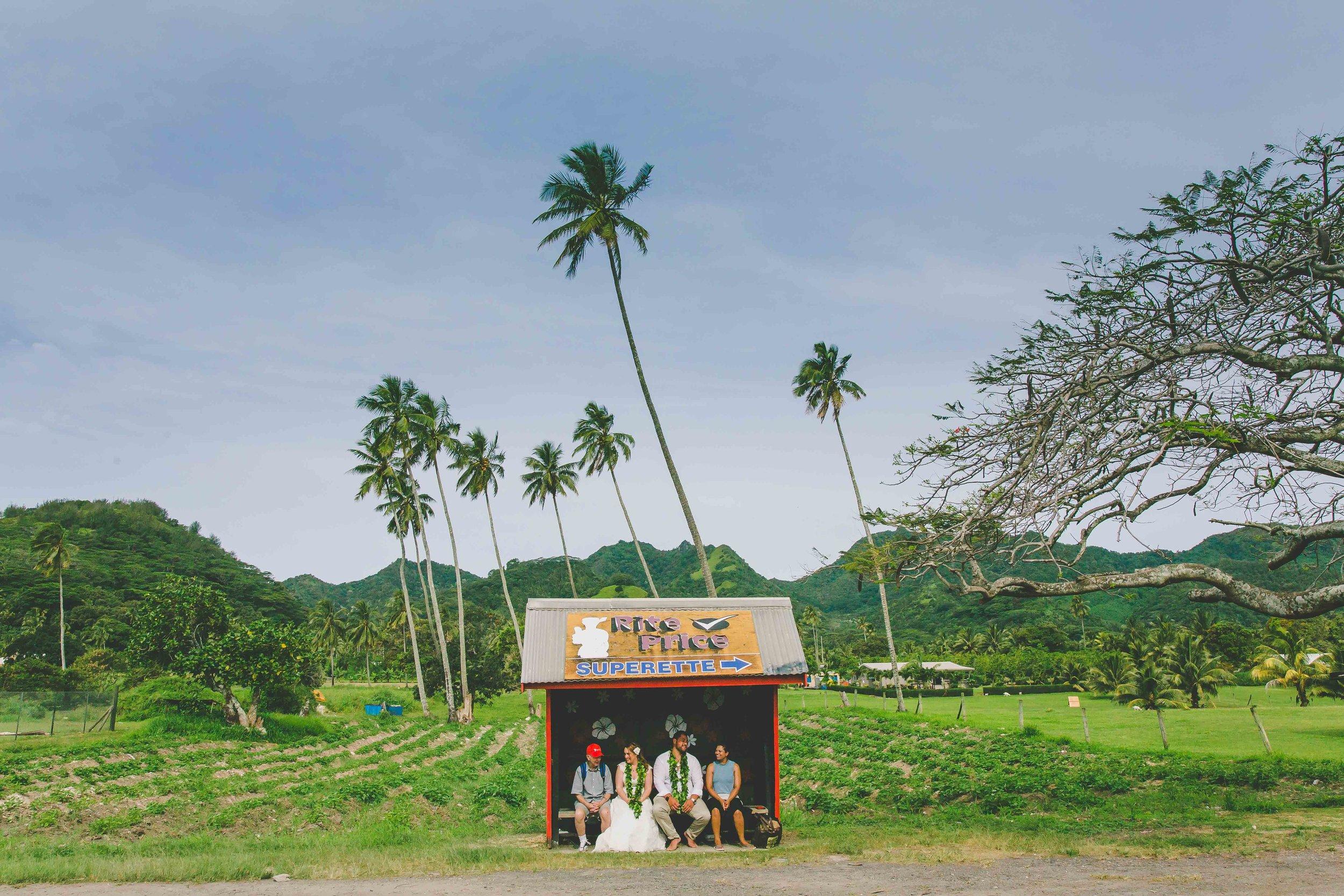 bus stop rarotonga
