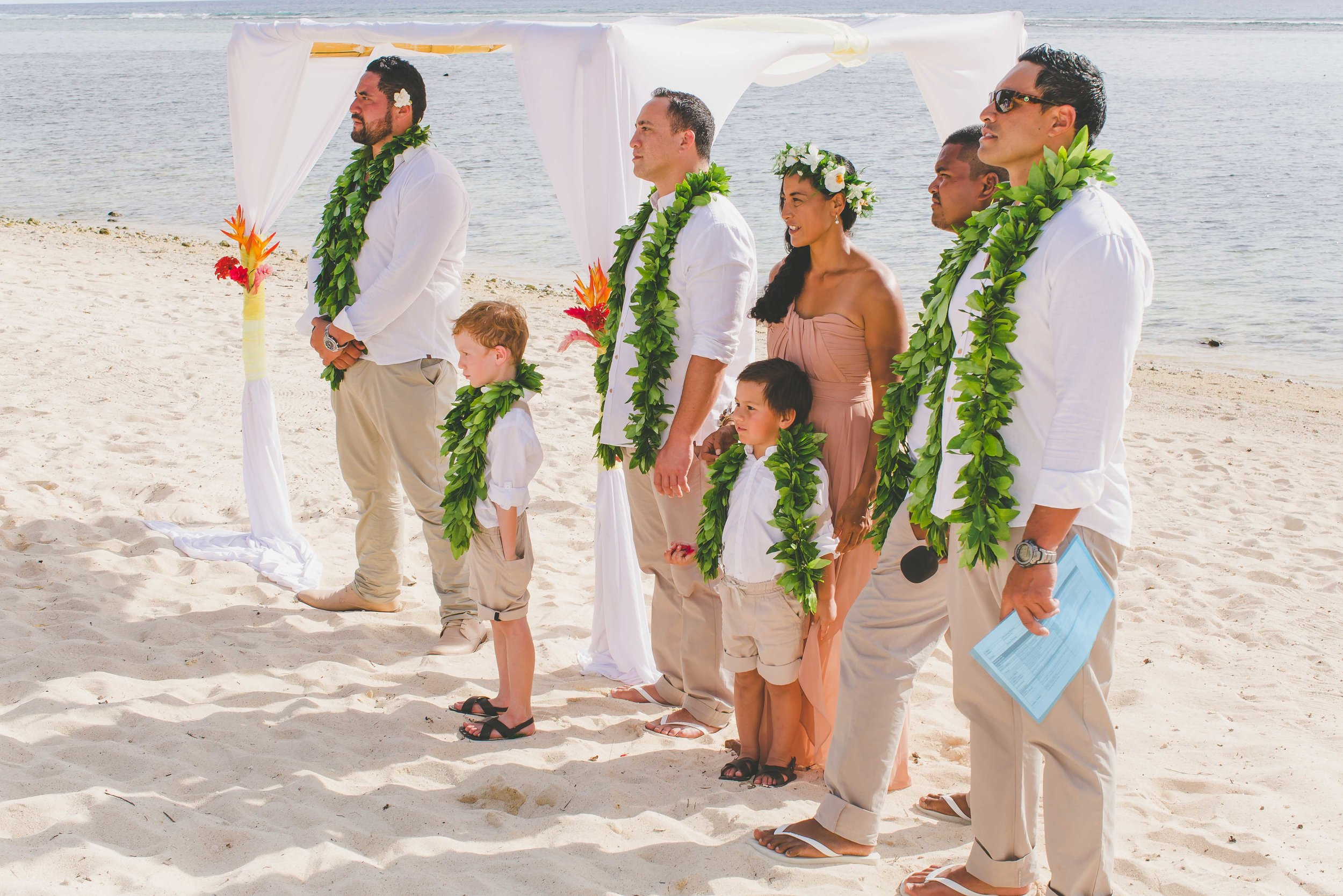 Bridal party Rarotonga