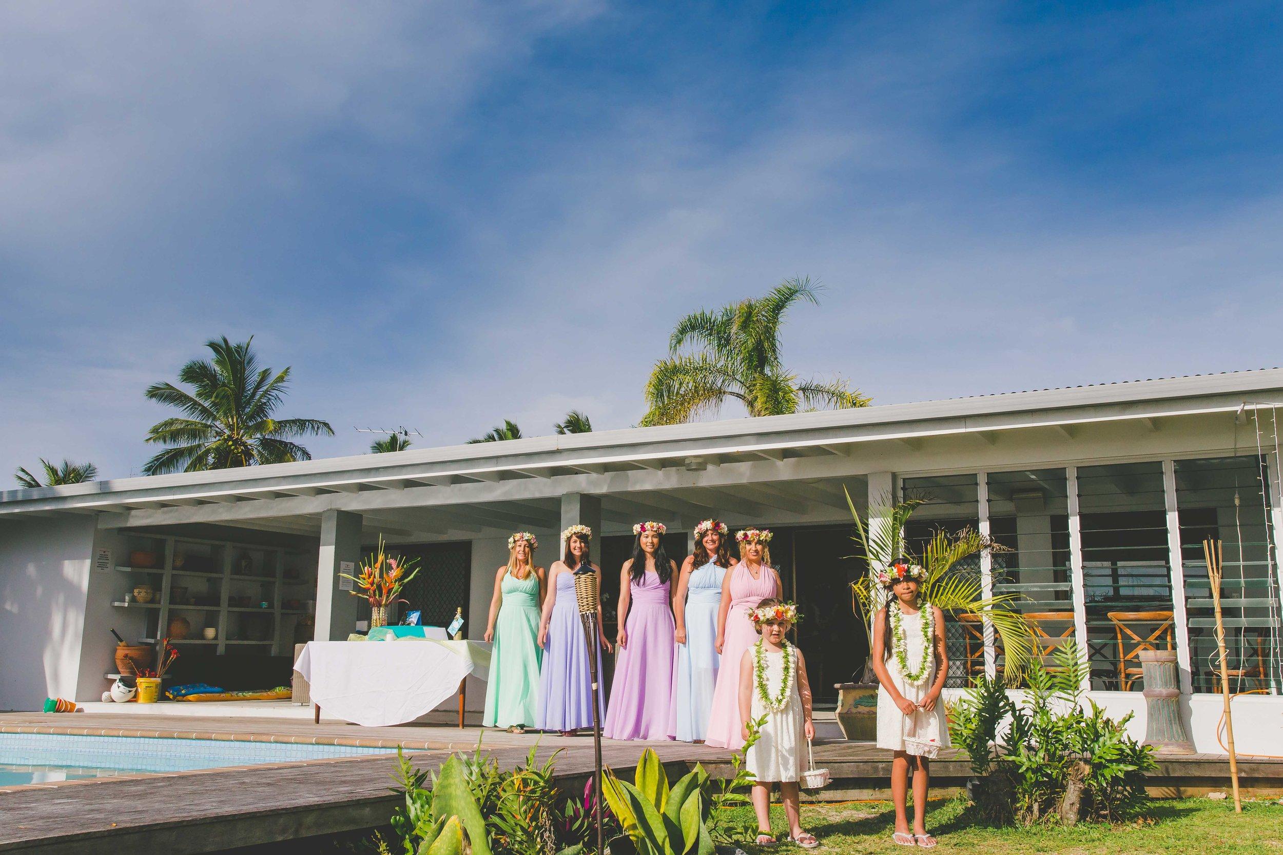 DIY rarotonga wedding