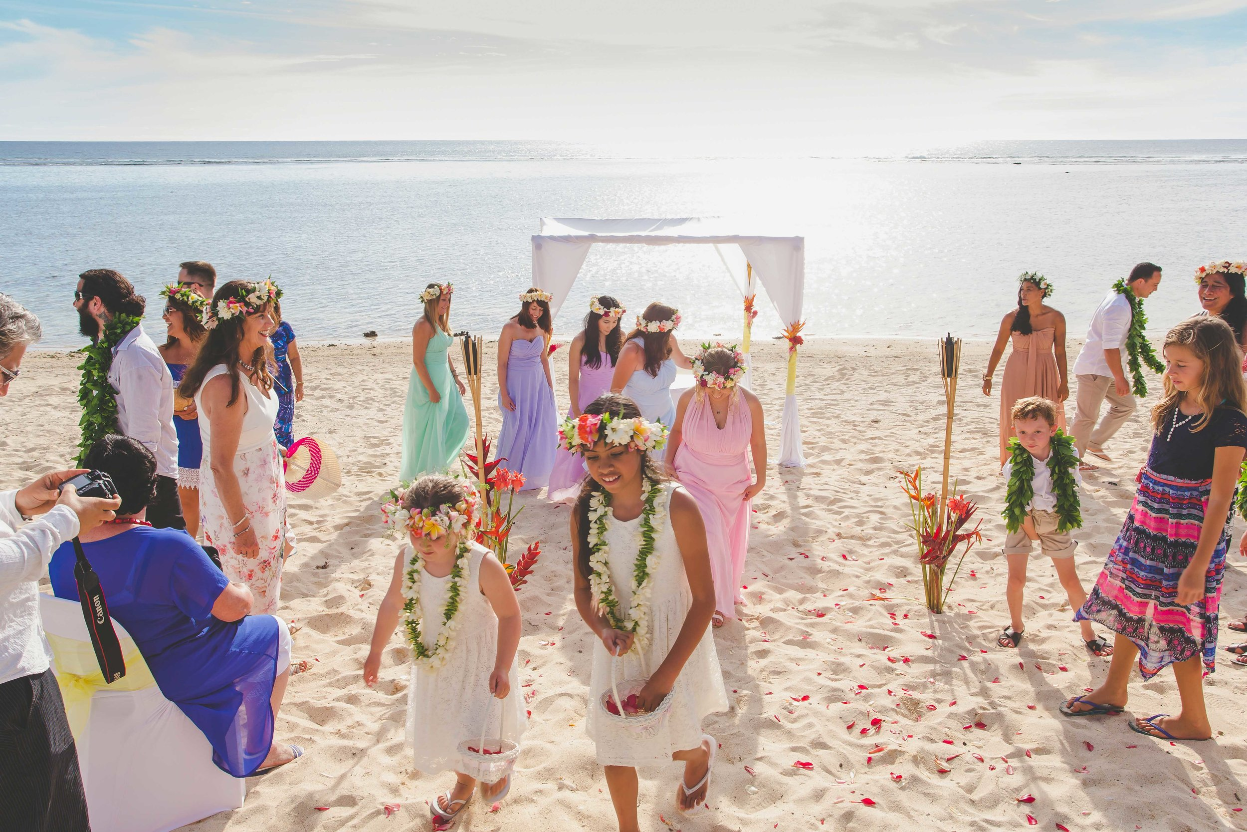 Beach wedding Sunset Rarotonga
