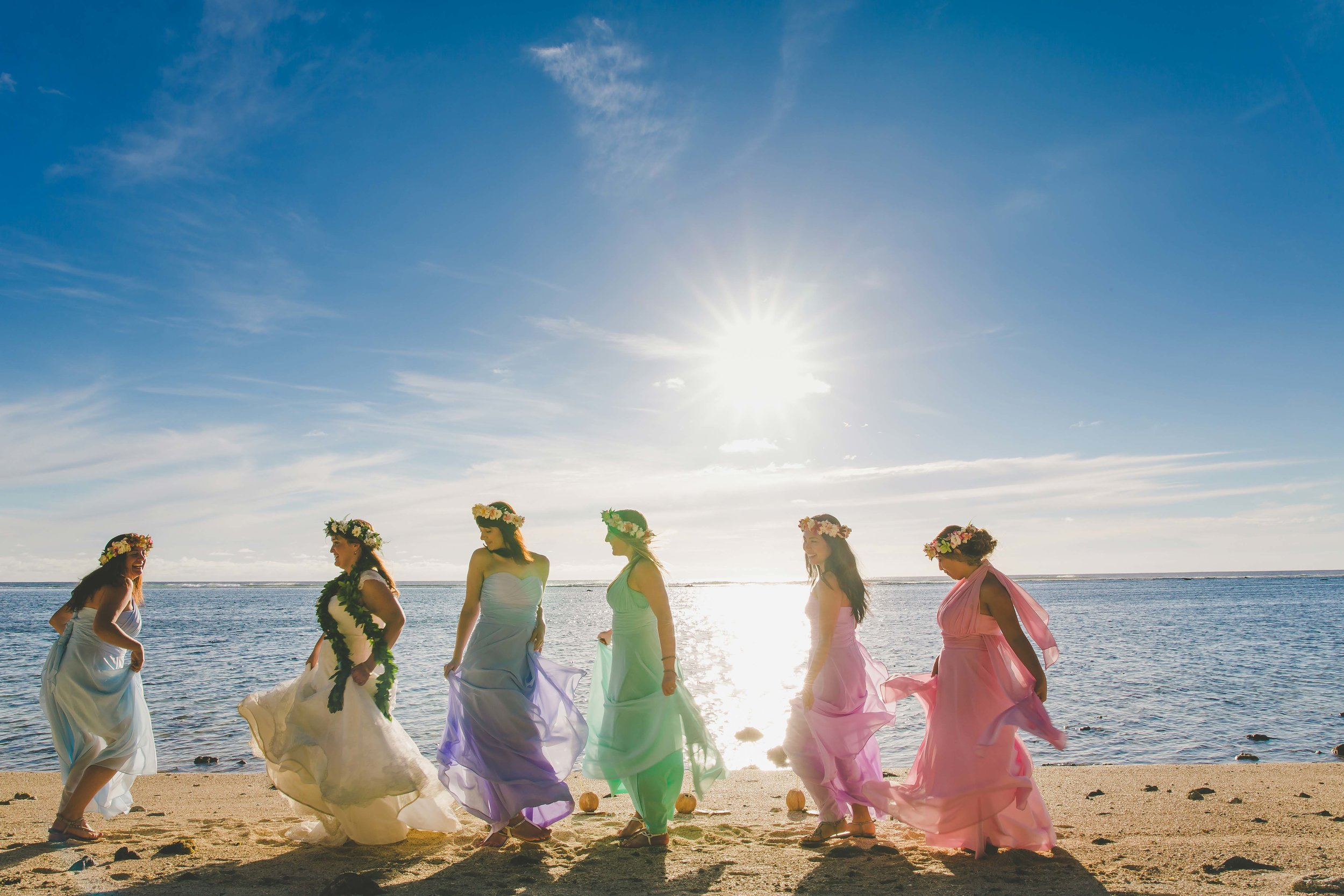 tropical bridal party cook islands