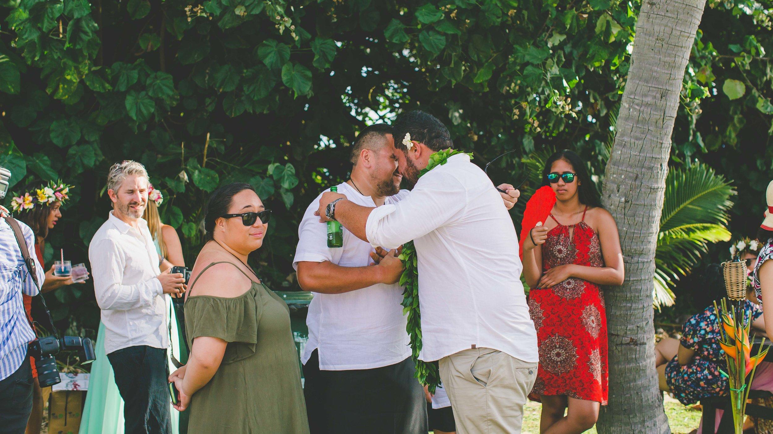 Family Rarotonga wedding
