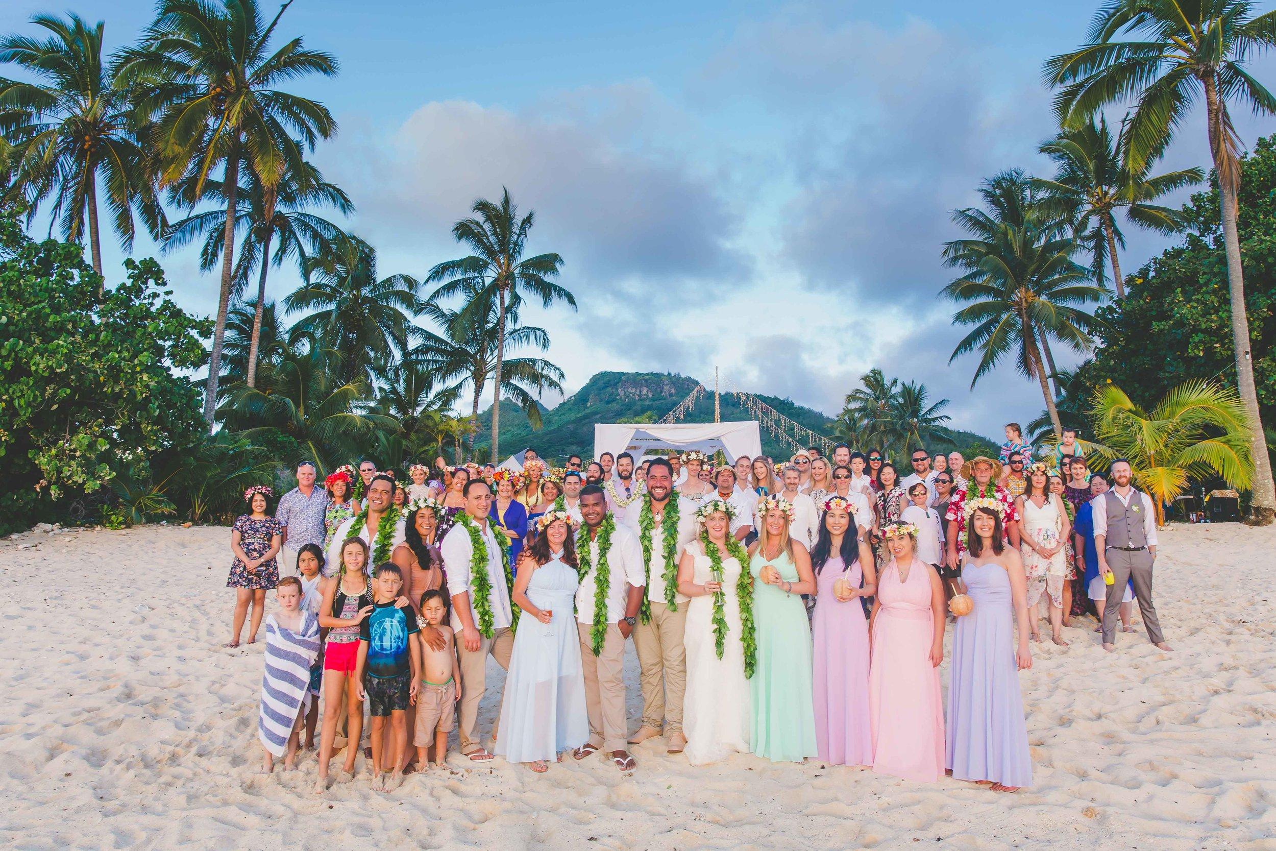 familiy wedding rarotonga