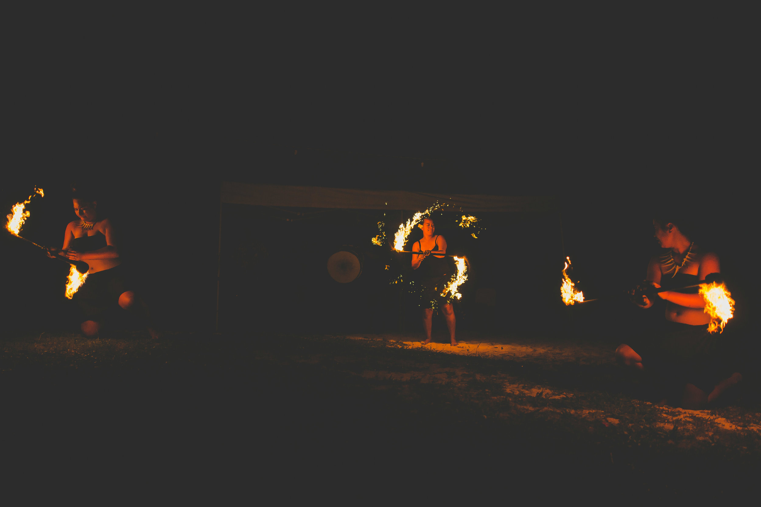 fire dancers for wedding