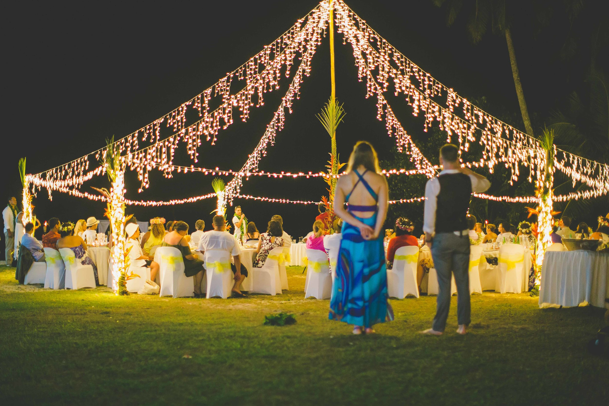 fairly lights marquee rarotonga hire