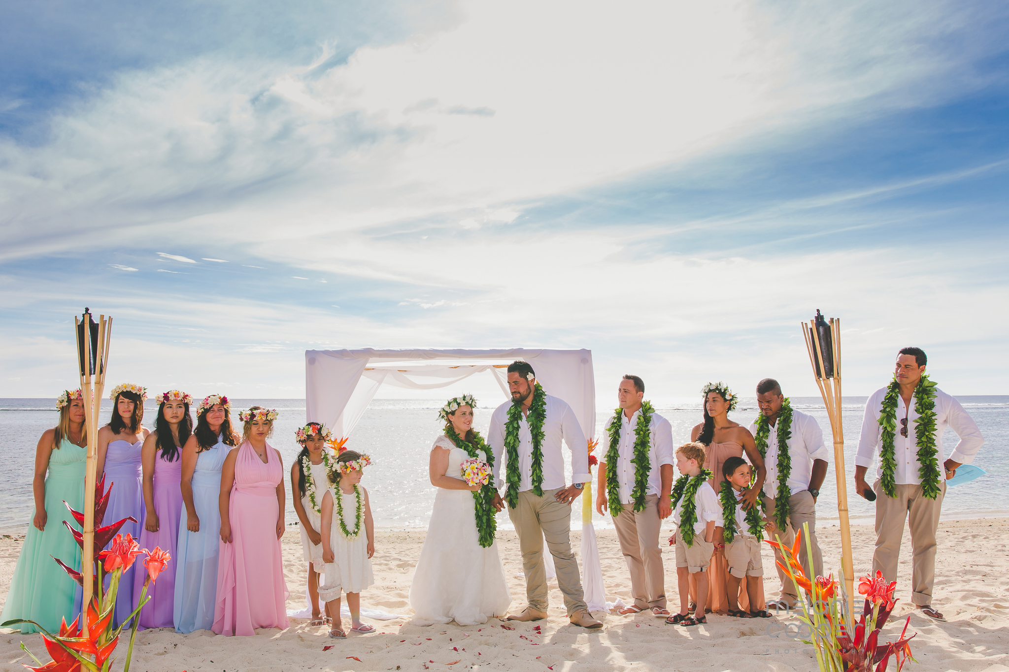 destination wedding cook islands