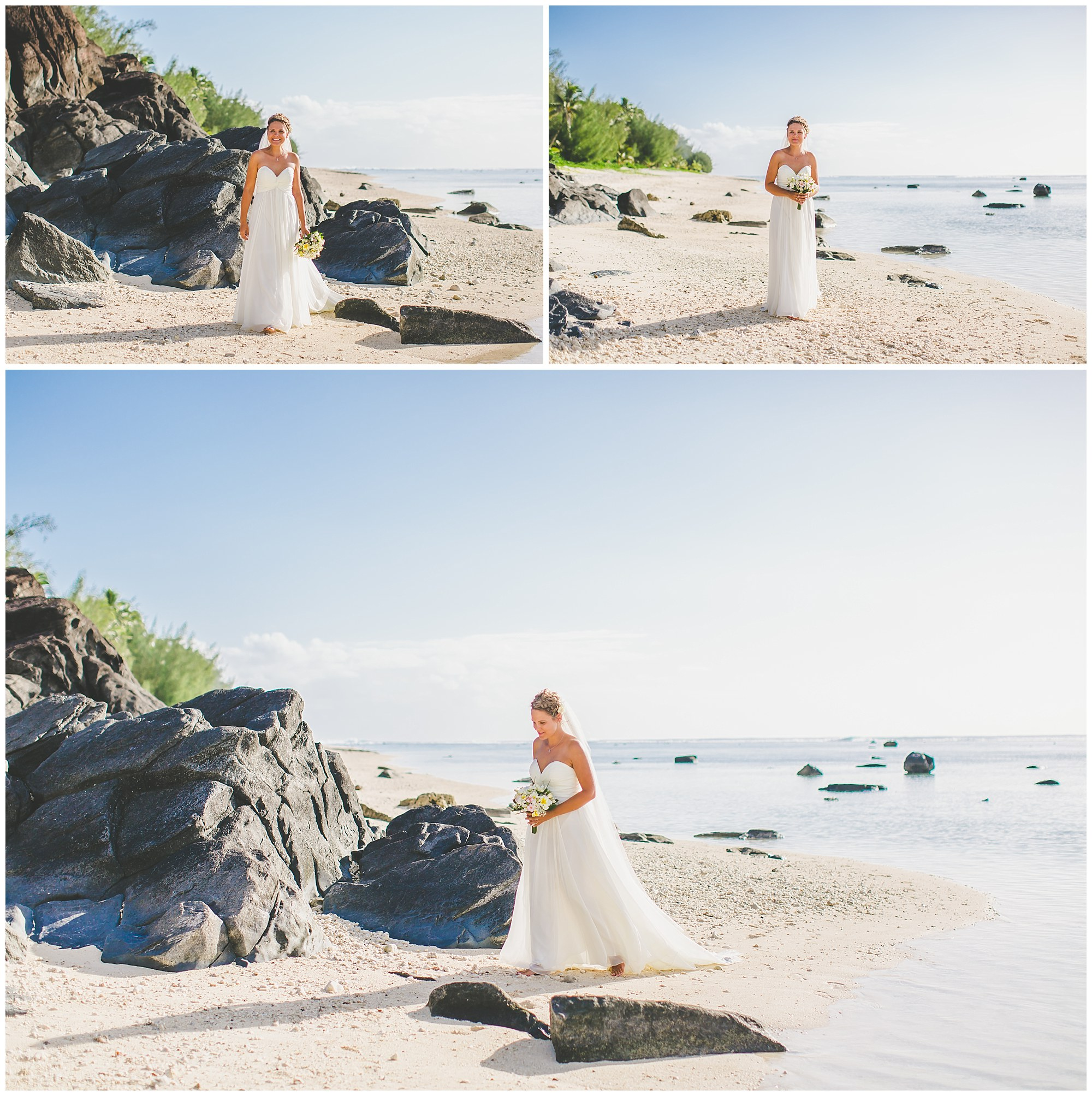 black rock bride rarotonga wedding