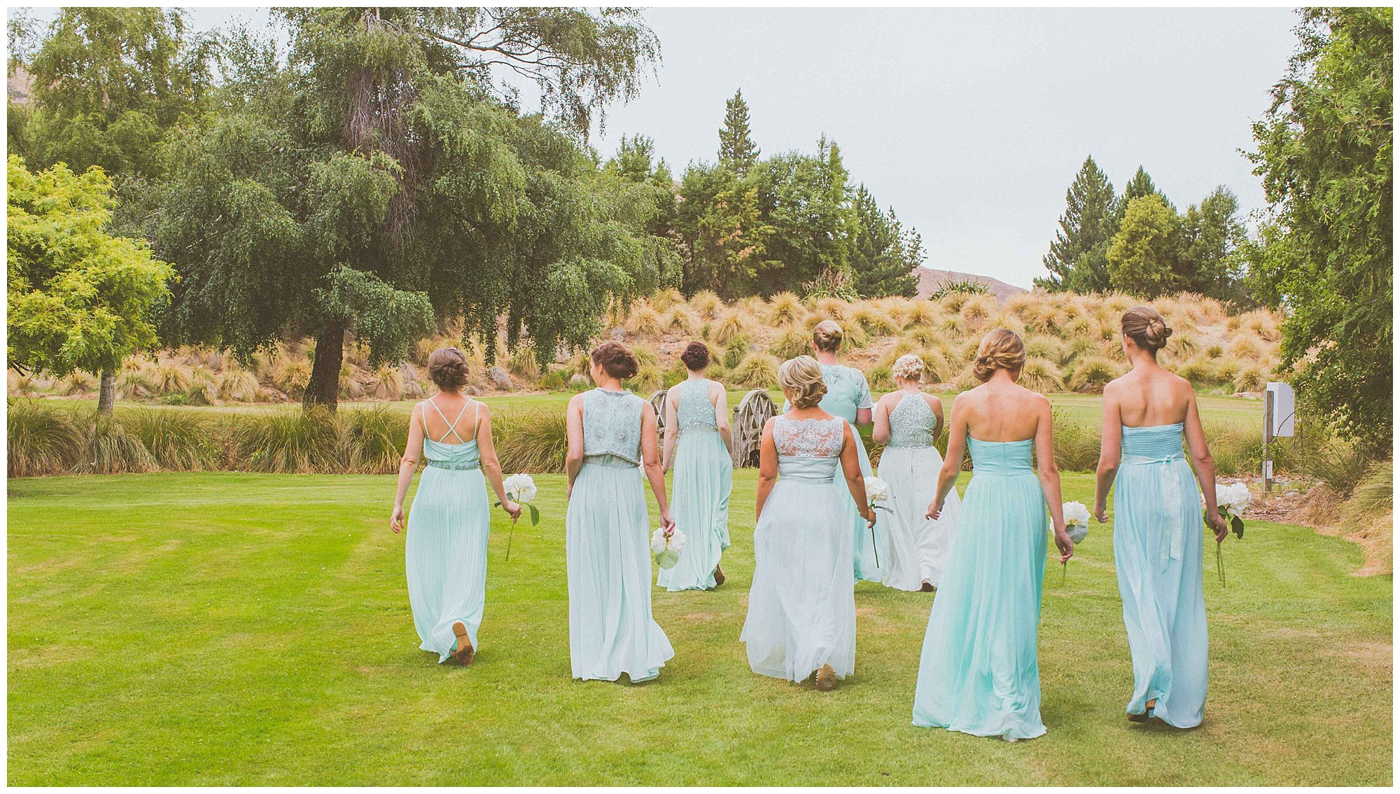 Bridesmaids dresses Mount John Homestead New Zealand