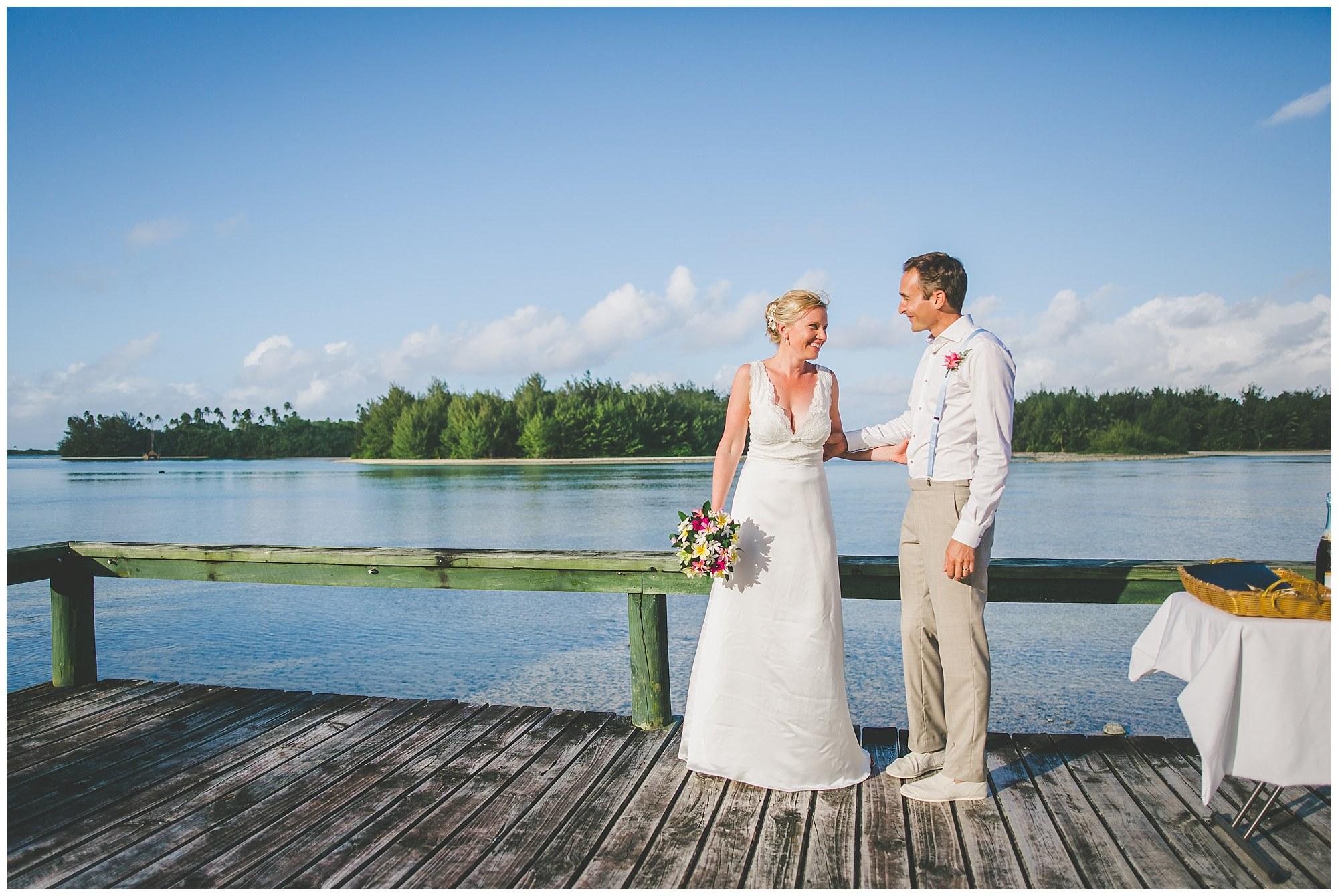 just married rarotonga