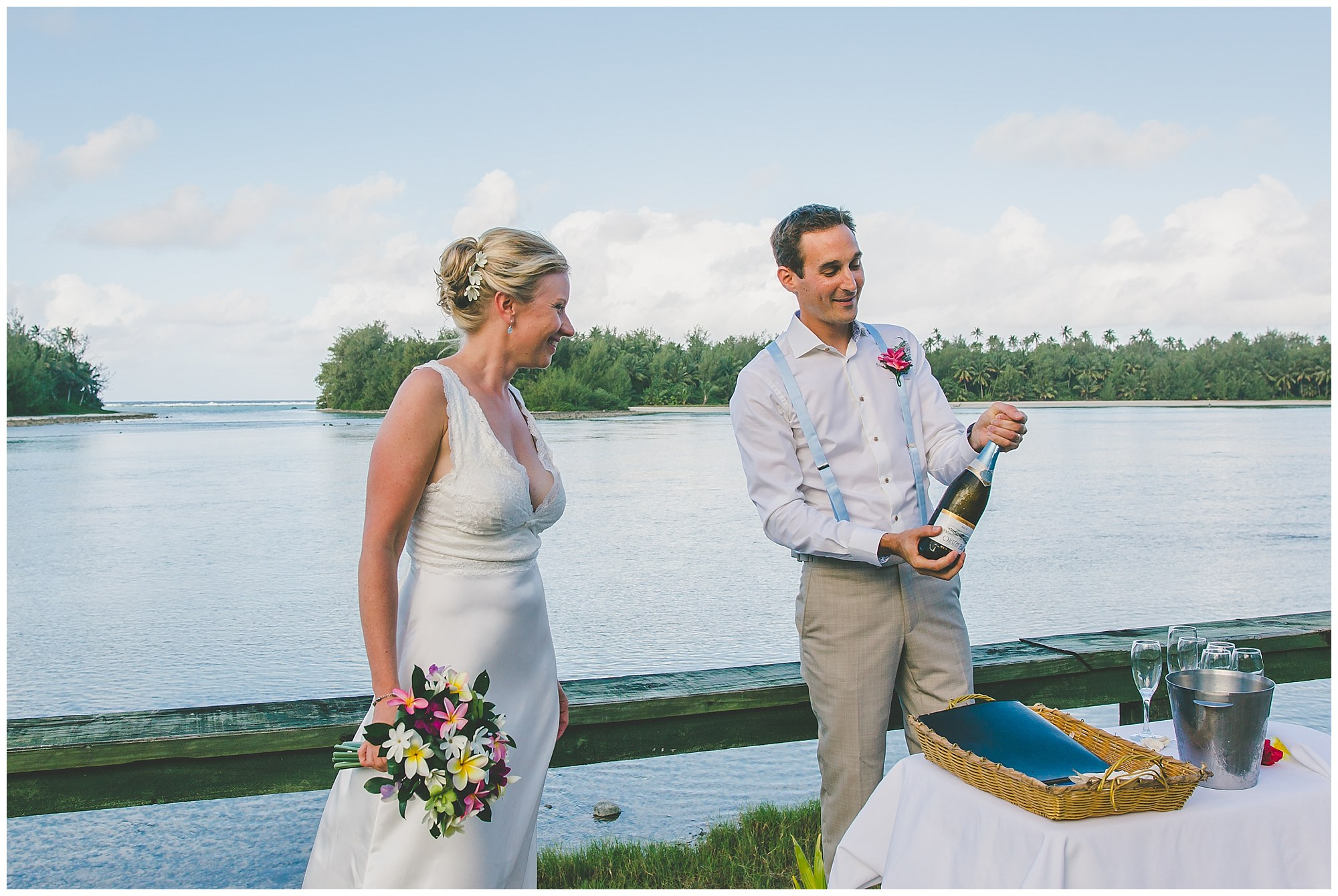 wedding champagne cook islands