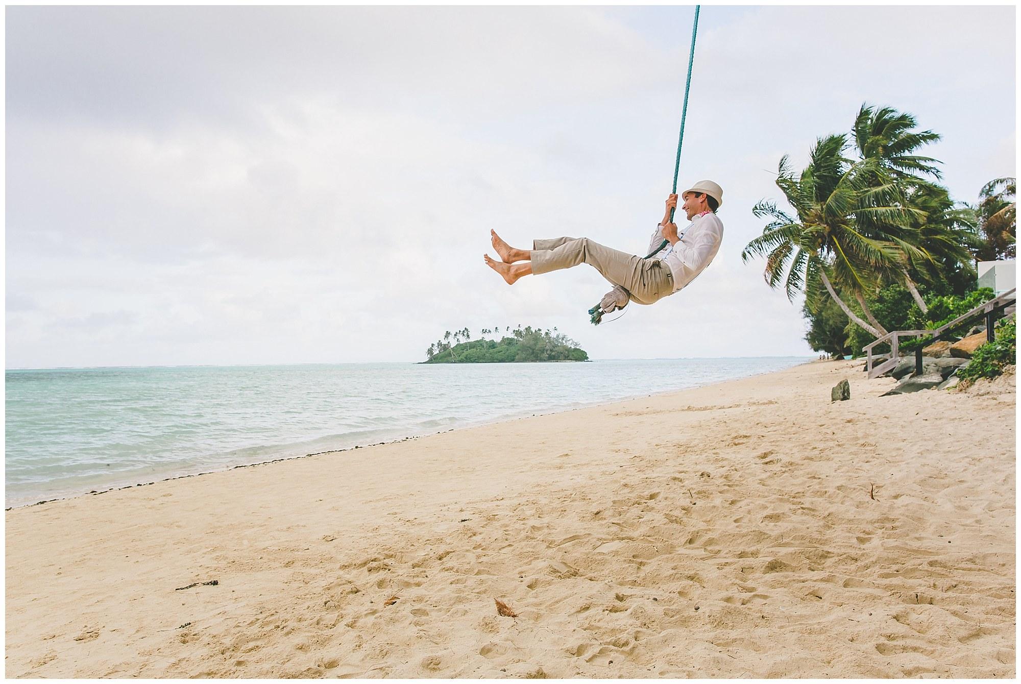 muri beach rarotonga wedding photographer