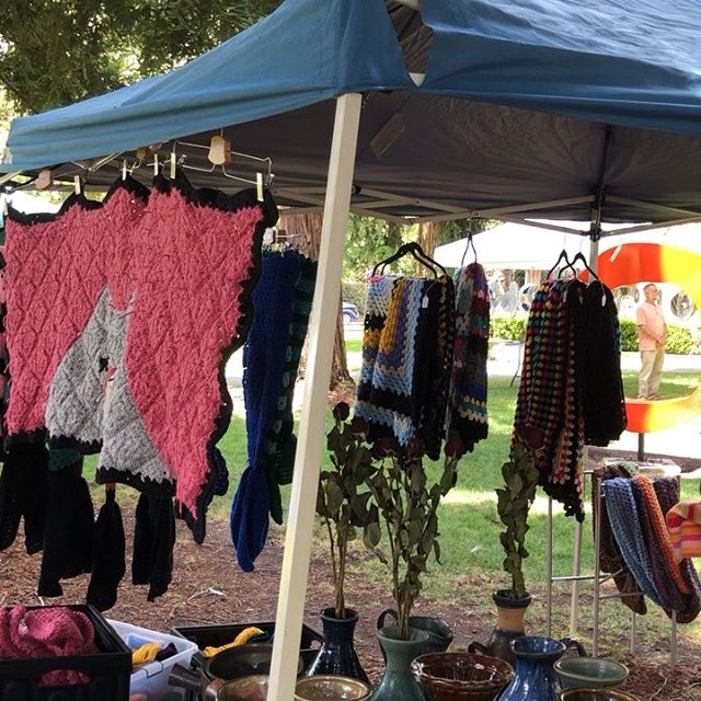 Beautiful day for the Midsummer Art Festival today!  Come by to say hi! We are here from 12-7. @tritonmuseum #oldquadsantaclara #community #localartist
