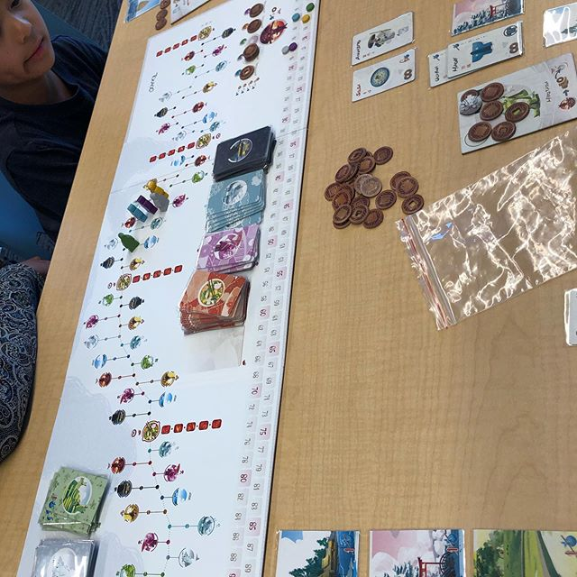 We have a lively game of Tokaido going tonight! #oqra #loveyourlibrary