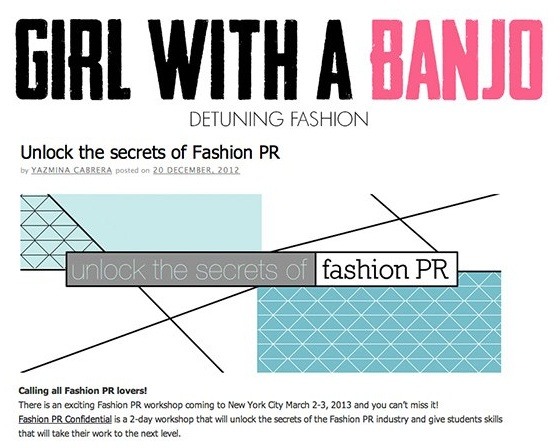 Girl With A Banjo Mini - Fashion PR Confidential