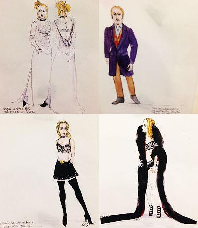 Venus in Fur  Costume Design Sketches by Charles Schoonmaker