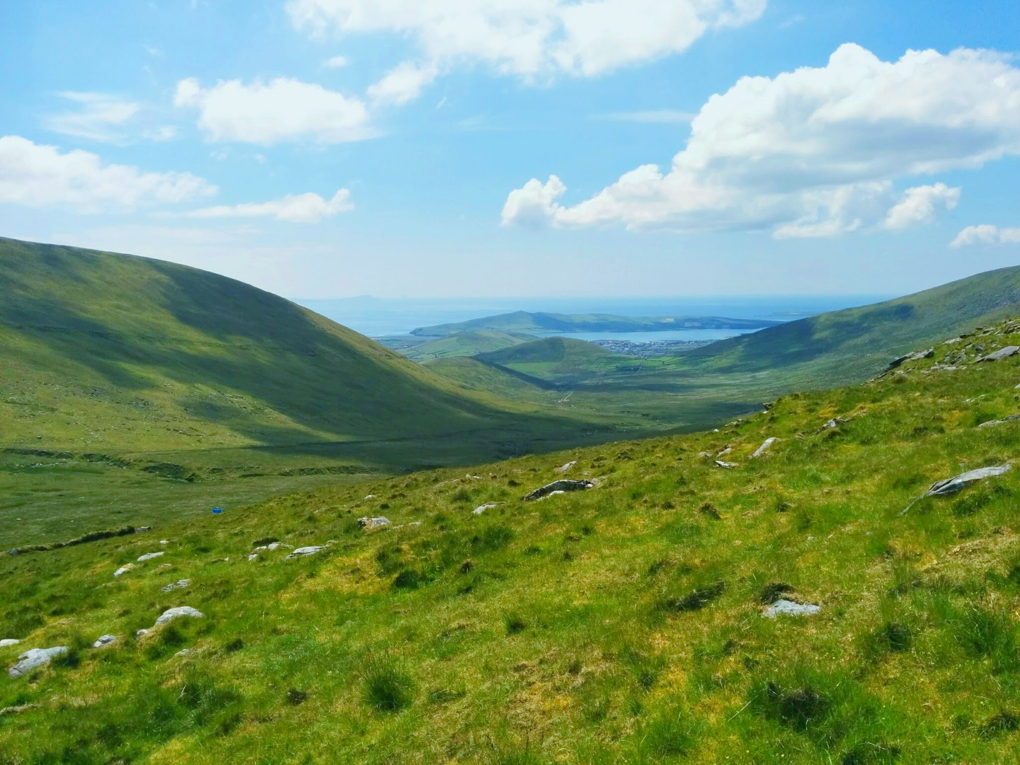 Conor Pass looking into Dingle Bay, Co. Kerry