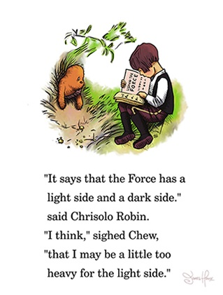 Perfect for a nerdy nursery, these Wookie The Chew prints are by James Hance.