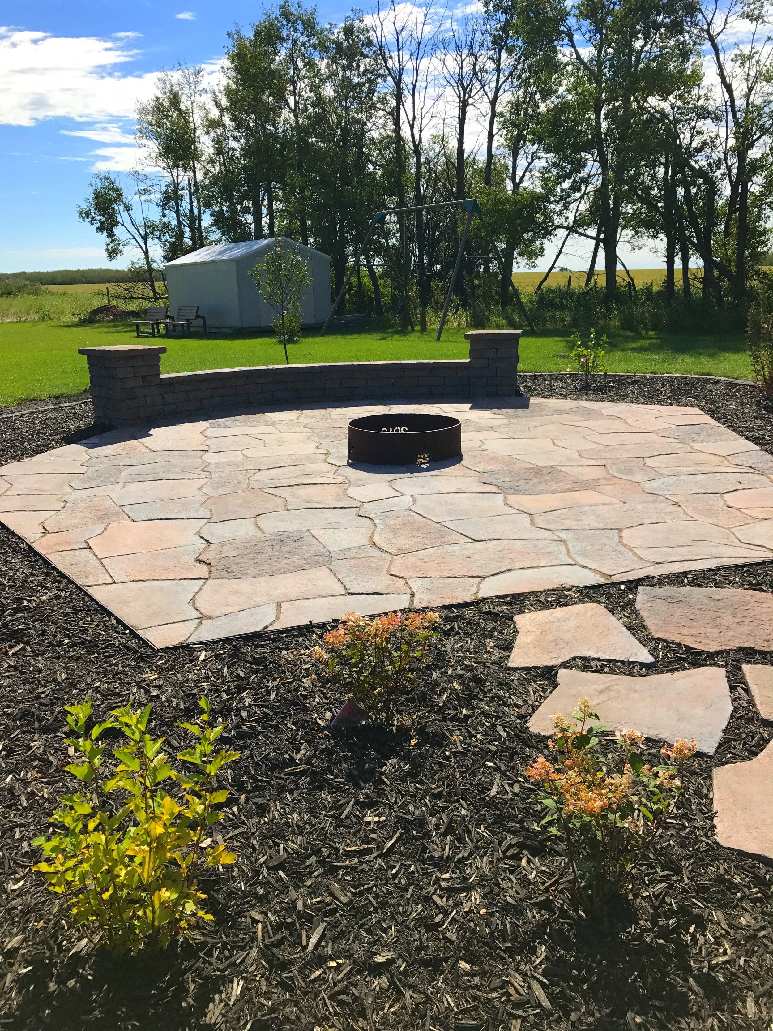 Flagstone and Dimensional Wall