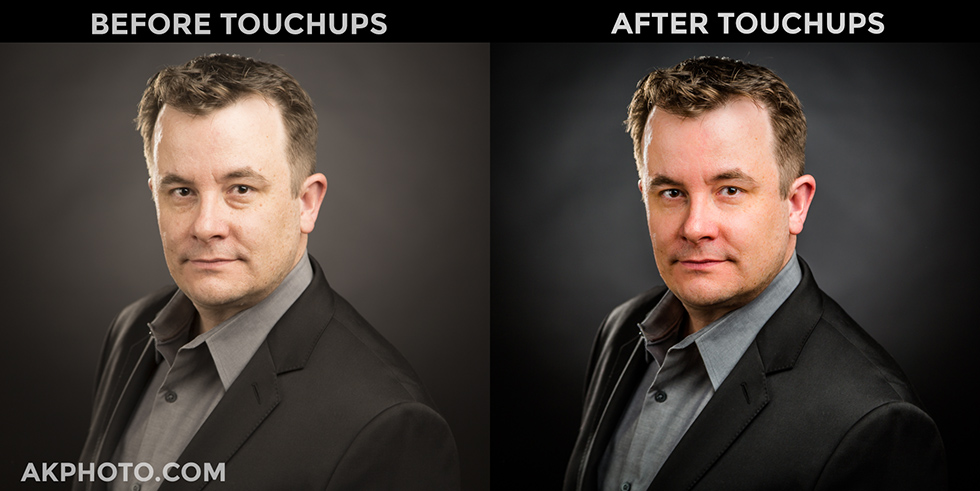 Before and After LinkedIn Headshot Edits (AKPHOTO, Denver)