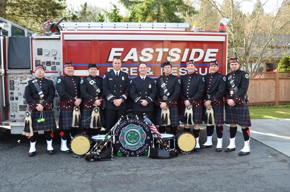 Schutter and Jarvis (kilted side drummer) Promotional Ceremony