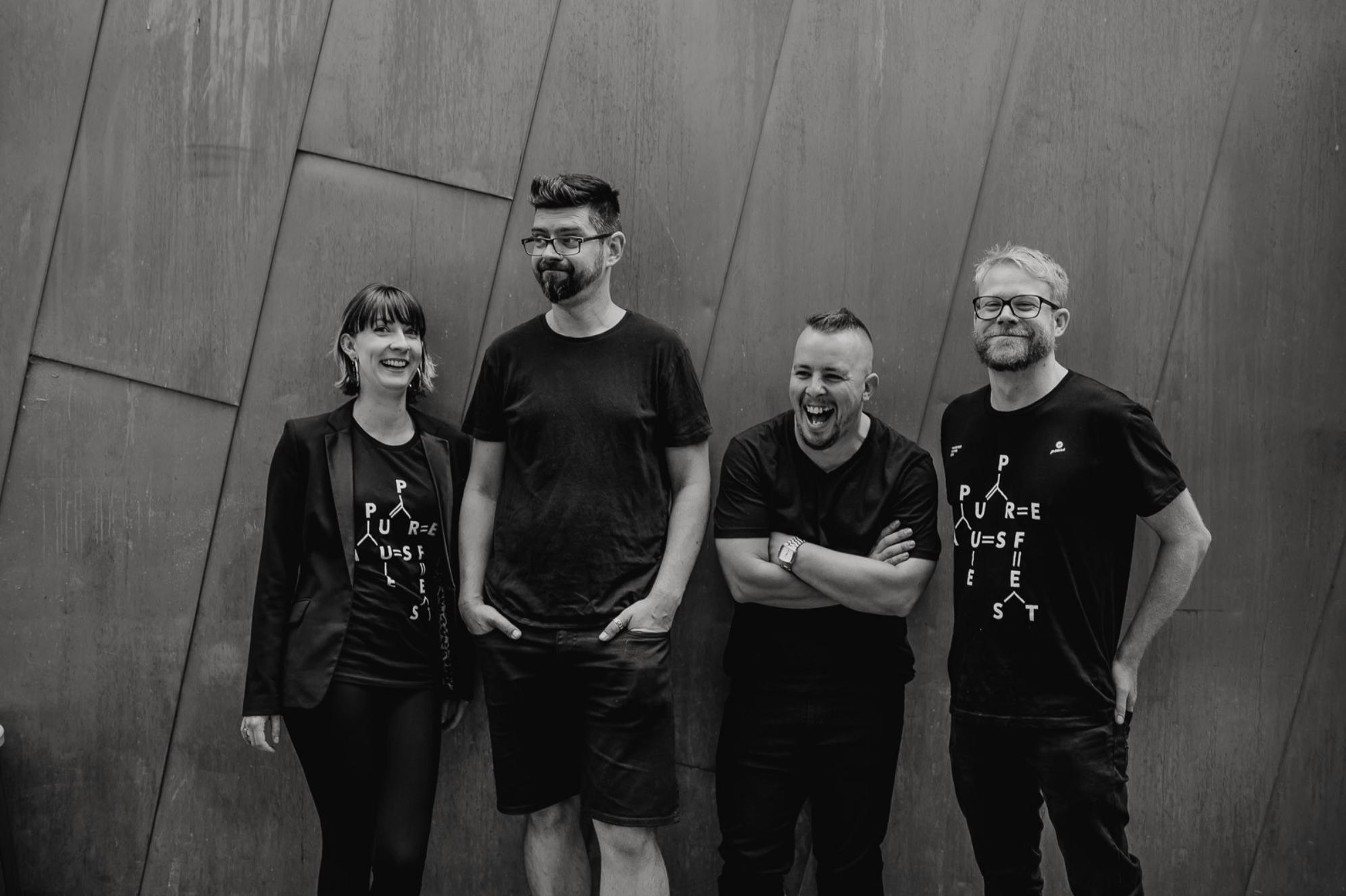The Pause 2015 team: Ren, George, myself and Tim // Credit:   Oli Sansom