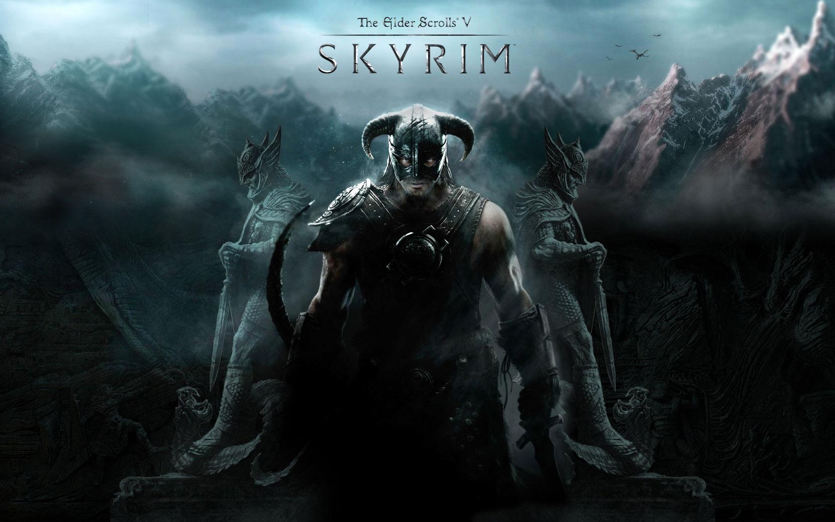 Skyrim video game DVD Cover