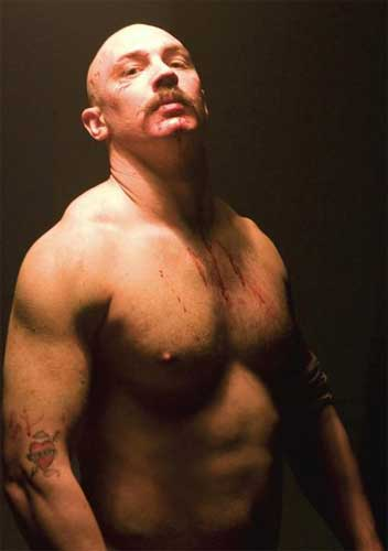 Tom Hardy from Bronson movie poster