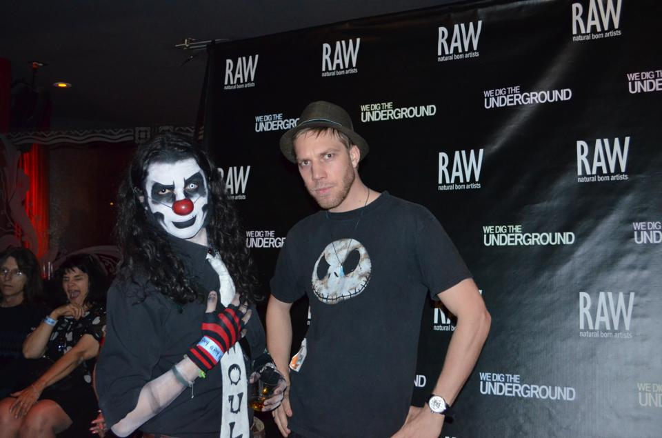 Ghoul the Hectic Clownie and Kyle Rea at RAW Artist show