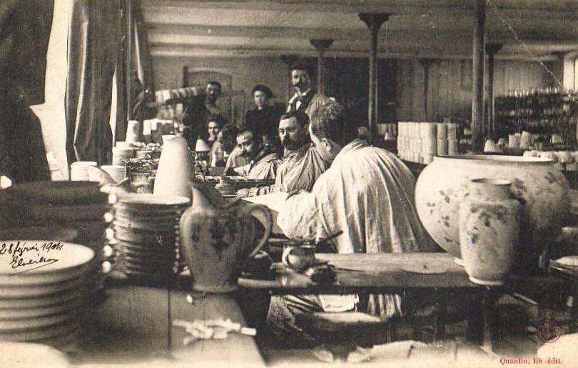 Faiencerie Luneville - Atelier de peinture - 1904