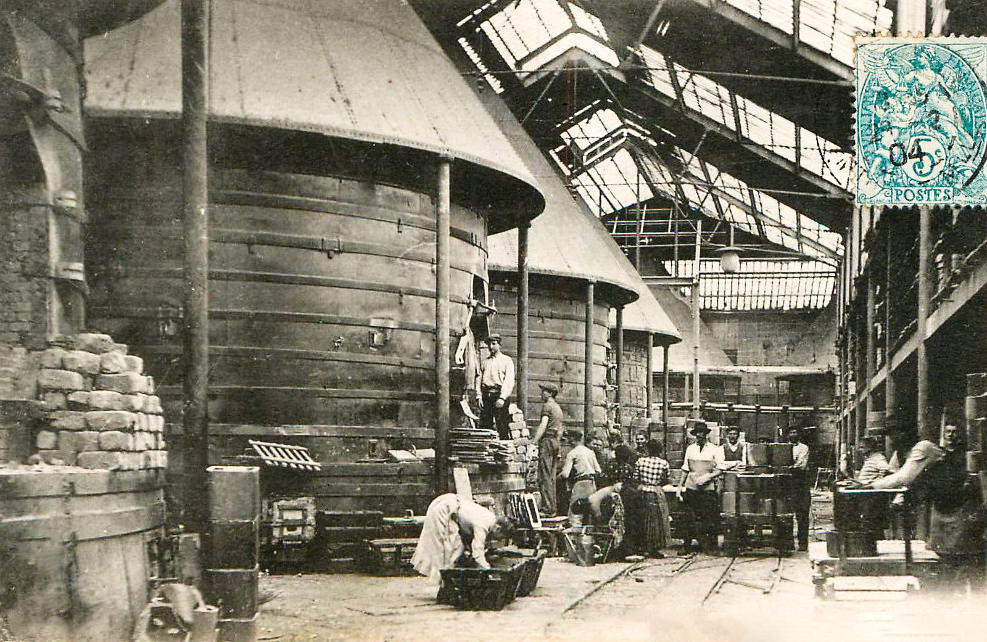 Faiencerie Luneville - Série de fours - 1904