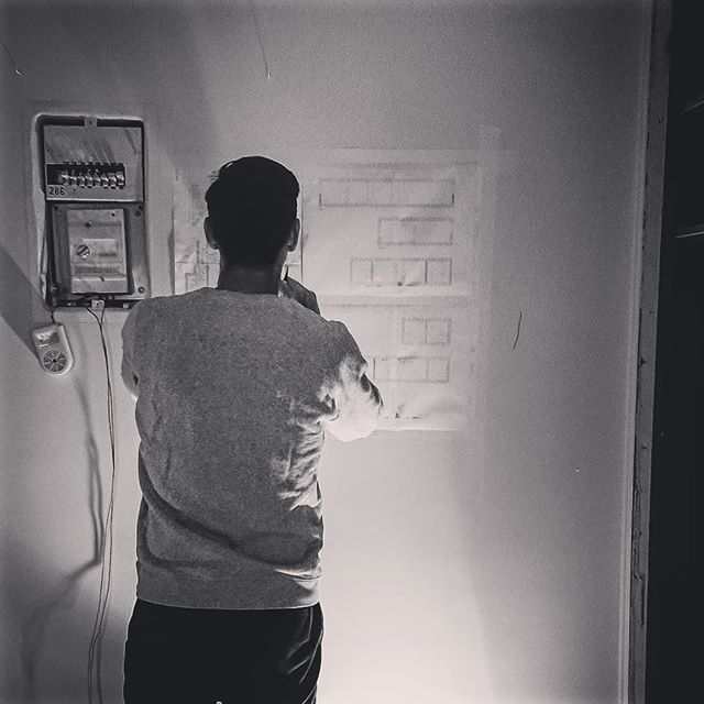 Master @ work @grandhuit_architecture #blueprint . . . . #archi #archidaily #workinprogress #amenagement #deco #decoration #design #interior #paris #paris20 #parisxx #2.10 #interiordesign #bnw #plan #think