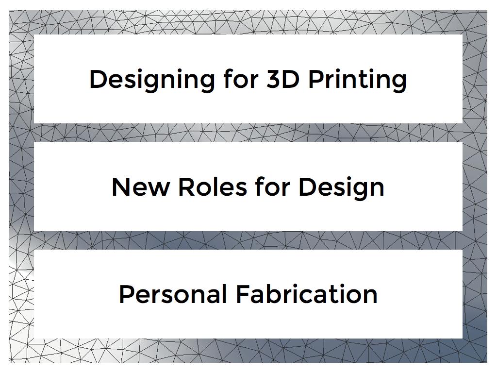 New ways to design