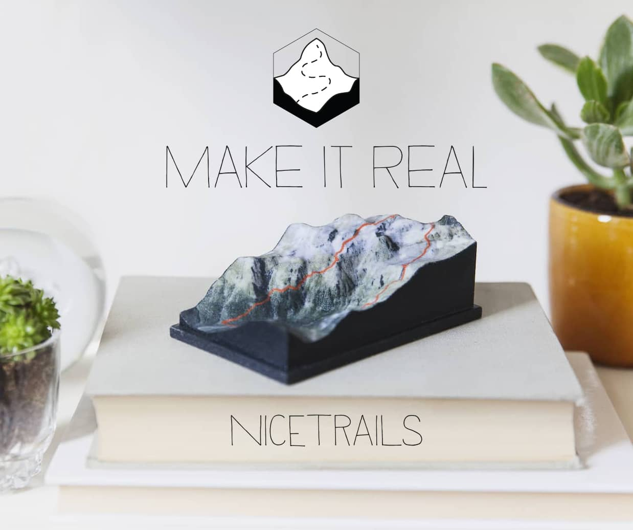 nicetrails - Tangible Cartography - 3D Printed TerrainB2C platform to generate terrain from GPX files and map locations.